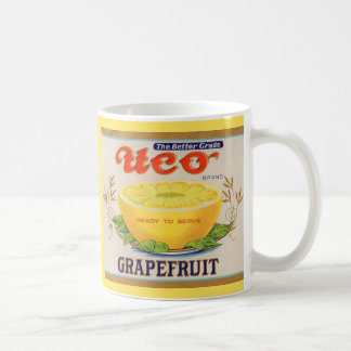 1930s Uco Brand Grapefruit label Coffee Mug