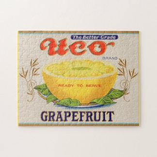 1930s Uco Brand Grapefruit label Jigsaw Puzzle