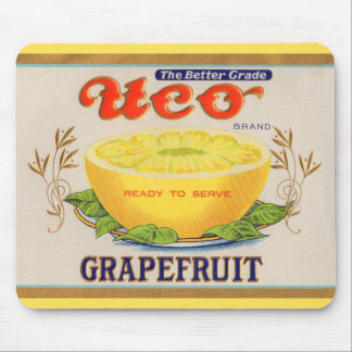 1930s Uco Brand Grapefruit label Mouse Pad