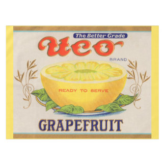1930s Uco Brand Grapefruit label Tablecloth