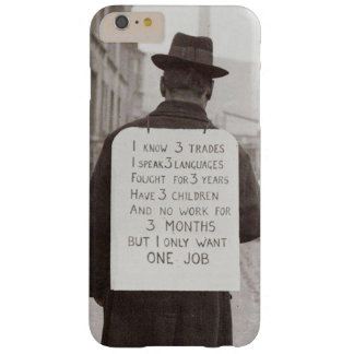 1930's unemployment barely there iPhone 6 plus case