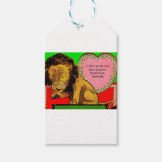 1930s Valentine The Lion's Share of My Love Gift Tags