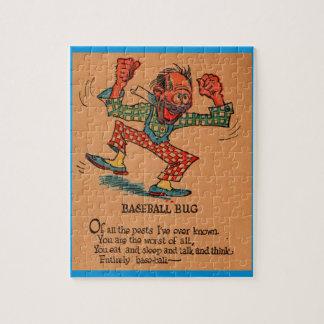 1930s vinegar valentine: the Baseball Bug Jigsaw Puzzle