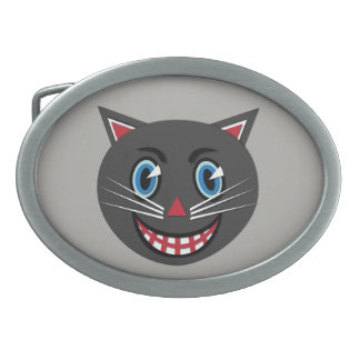 1930's Vintage Black Cat Belt Buckle