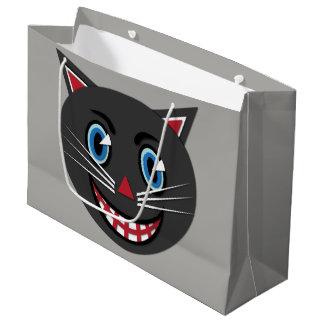 1930's Vintage Black Cat Large Gift Bag
