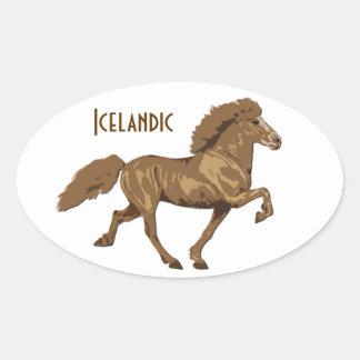 1930's Vintage Icelandic Oval Sticker