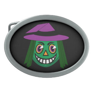 1930's Vintage Witch Belt Buckle