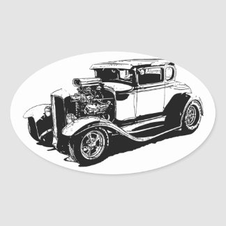 1931 5 Window Coupe Oval Sticker