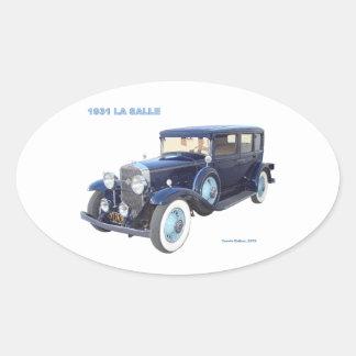 1931 CADILLAC LA SALLE OVAL STICKER