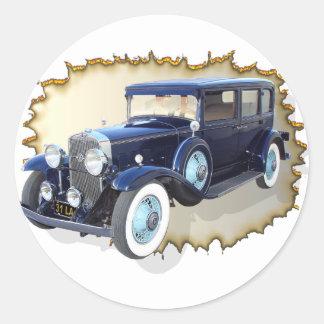 1931 Cadillac LaSalle Round Sticker