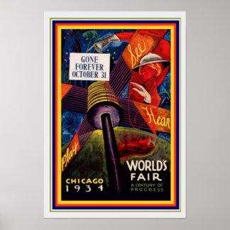 1931 Chicago World's Fair 13 x 19 Poster