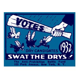 1932 Anti-Prohibition Campaign Postcards