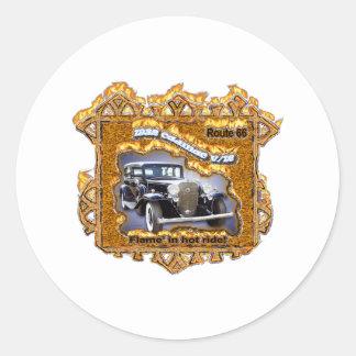 1932 CAD V-12 route 66 Round Sticker