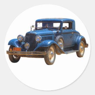 1932 CHRYSLER CLASSIC ROUND STICKER