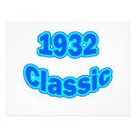 1932 Classic Blue Custom Invites
