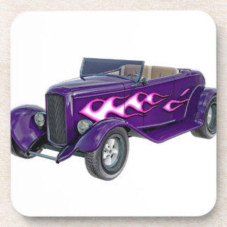 1932 Purple Roadster with Flame Coasters