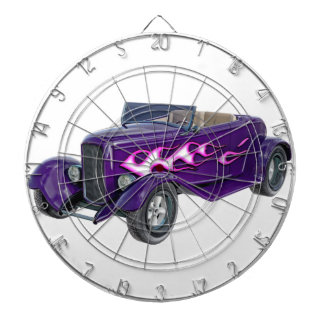 1932 Purple Roadster with Flame Dartboard