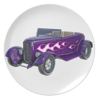 1932 Purple Roadster with Flame Plate