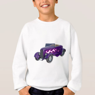1932 Purple Roadster with Flame Sweatshirt