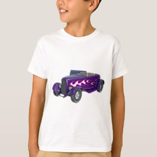 1932 Purple Roadster with Flame T-Shirt