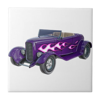 1932 Purple Roadster with Flame Tile