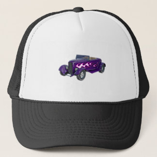1932 Purple Roadster with Flame Trucker Hat