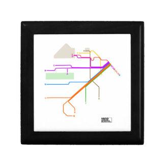1932 San Francisco Municipal Railway Map Gift Box