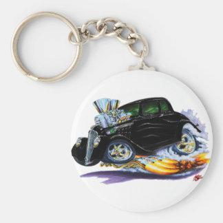 1933-36 Willys Black Car Keychain