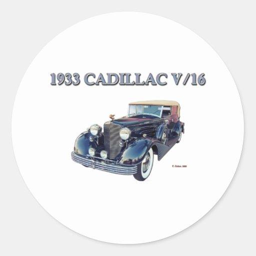 1933 CADILLAC V/16 STICKERS