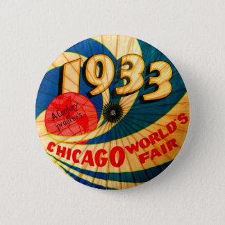 1933 Chicago Worlds Fair Souvenir Parasol 2 Inch Round Button