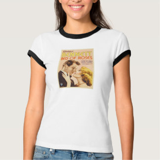 1933 Constance Bennett 'Bed of Roses' movie poster T-Shirt