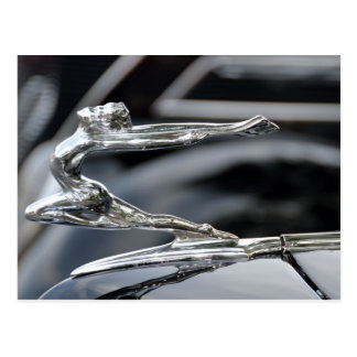 1934 Buick Goddess Hood Ornament Postcard