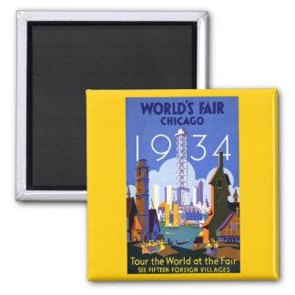 1934 Chicago World's Fair Magnet