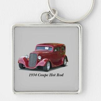 1934 Customized Coupe Hot Rod Keychain