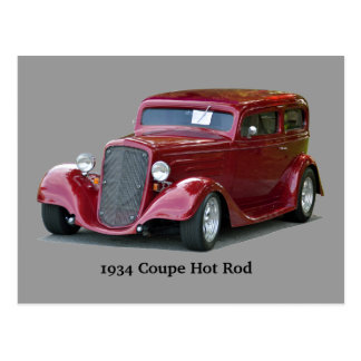 1934 Customized Coupe Hot Rod Postcard