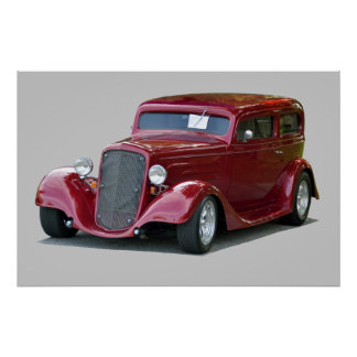 1934 Customized Coupe Hot Rod Poster