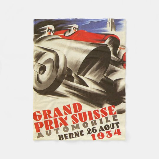1934 Grand Prix Suisse  Fleece Blanket