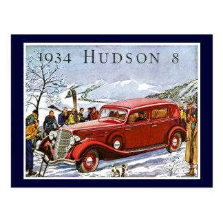 1934 Hudson 8 - Vintage Advertisement Postcard