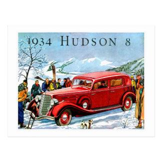 1934 Hudson 8 Vintage Automobile Advertisement Postcard