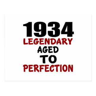 1934 LEGENDARY AGED TO PERFECTION POSTCARD