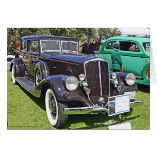 1934 Pierce Arrow Automobile Greeting Card