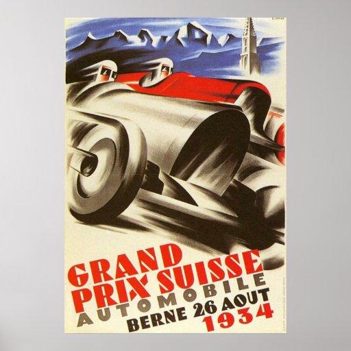 1934 Swiss Grand Prix Poster