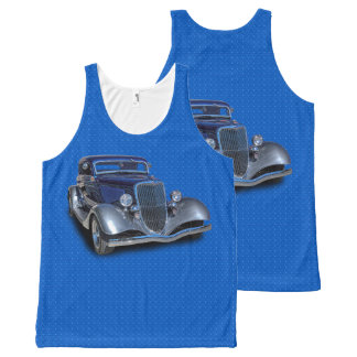 1934 VINTAGE CAR All-Over-Print TANK TOP
