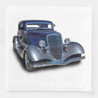 1934 VINTAGE CAR DISPOSABLE NAPKINS