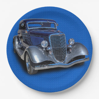 1934 VINTAGE CAR PAPER PLATE