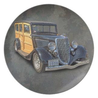 1934 VINTAGE WOODIE PLATE