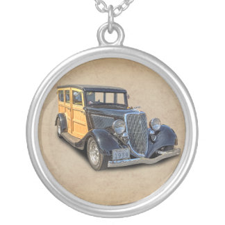 1934 VINTAGE WOODIE SILVER PLATED NECKLACE