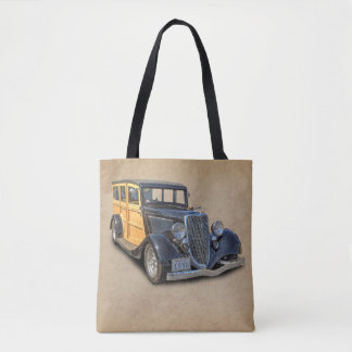 1934 VINTAGE WOODIE TOTE BAG