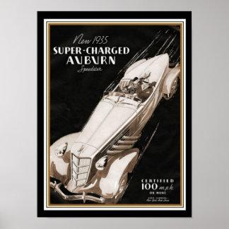 1935 Auburn Boat Tail Speedster Deco Poster