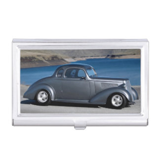 1935 Chevy Master Coupe Hot Rod Scenic Lake Business Card Holder